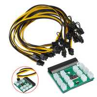 12pcs 6+2Pin Cable Breakout Adapter Board Power Supply Kit for Server Power Conversion for Mining