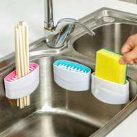 Detachable Cutlery Brush Cleaner Sucker Fork Spoon Cleaner Utensil Sink Scrubber Kitchen Helper