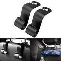 Pair Car Seat Back Headrest Hook Storage Hanger Holder Organizer Universal