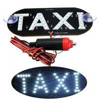 Car White LED Cab Taxi Roof Sign Light 12V Vehical Inside Windscreen Lamp