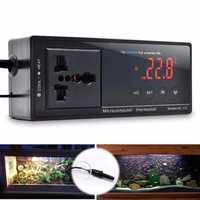 220V LCD Digital Thermostat Incubator Reptile Snake Aquarium Temperature Controller Socket