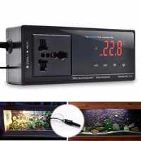 220V LCD Digital Thermostat Incubator Reptile Snake Aquarium Temperature Controller Socket