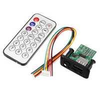 3pcs DC 5V 12V 3W+3W Dual Channel Mini MP3 Decoder Board Decoding Module Support MP3 WAV U Disk TF Card USB Power Memory Amplifier Speaker Audio Board With Remote Control