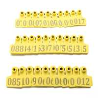 100Sets Yellow Animals CattleGoat Pig Sheep Use Ear Number Tag Livestock Tags Labels