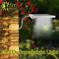 3.5W Garden Solar White 15 LED Path Lamp Ourdoor Waterproof Super Bright Wall Light