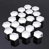 Set of 20 pcs 17mm Car Plastic Caps Bolts Covers Nuts Alloy Wheel