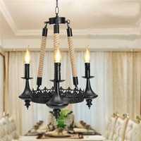 E14 3 Heads Iron Chandelier Living Room Dining Room Ceiling Light Pendant Light AC110-220V