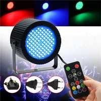 20W 88 LED RGB Sound Control Dimmable Stage Light Laser Projector Lamp with Remote Control