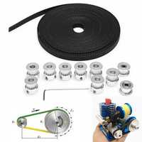 8pcs GT2 16T Bore 5mm Timing Pulley with 5m Belt and Tensioner
