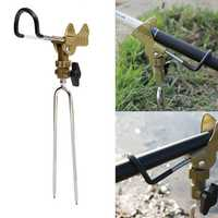 ZANLURE Stainless Steel Fishing Rod Tackle Metal Holder Adjustable Handle Support Stand