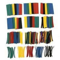 410pcs 2:1 Polyolefin Halogen-Free Heat Shrink Tube Sleeving 5 Color 10 Size