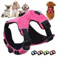Adjustable Reflective Nylon Pet Dog Puppy Cat Harness Vest Collar Walking Safety