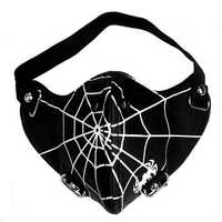 Spider Web Motorcycle Riding Punk Rock Face Mask Hip-hop Halloween Party Mask