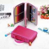 36 Holes Art Pen Pencil Makeup Brush Case Box Students Stationary Zipper Storage Makeup Bag