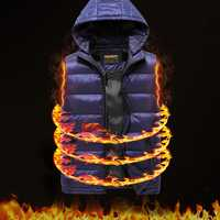 Winter Thick Warm Padded Vest Hood Sleeveless Quilted Coats