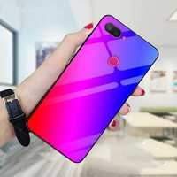 Bakeey Gradient Color Tempered Glass Shockproof Protective Case For Xiaomi Mi 8 Lite
