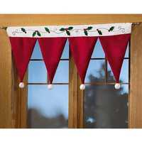 Christmas Party Home Decoration Santa Claus Hat Curtain Hanging Ornaments Toys Kids Children Gift
