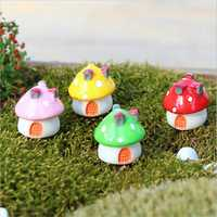 Miniature Mushroom Ornament Potted Plant Landscape Garden DIY Decor