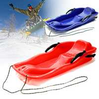 Outdoor Plastic Skiing Board Sled Luge Snow Grass Sand Board Pad With Rope For Double People