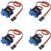 4 X SG90 Mini Gear Micro 9g Analog Servo For RC Airplane