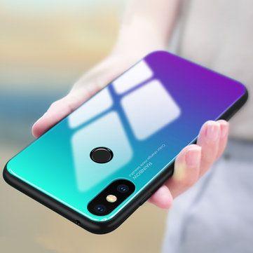 Bakeey Gradient Color Tempered Glass Soft Edge Protective Case For Xiaomi Mi A2 / Xiaomi Mi 6X