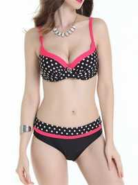 Push Up Polka Dot Printed Bikini Set