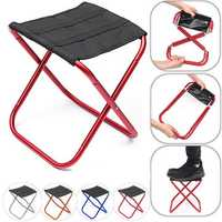 Outdoor Portable Aluminum Folding Chair Outdoor Camping Picnic Seat Stool