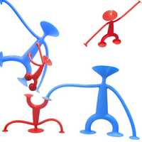 75mm Spider Sucker Man Sucking Disc Blue Red Doll Figure Toy Gift Fun Creative Novelty