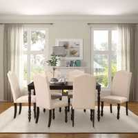 5 Pcs/1 Set Dining Table and Upholstered Chairs Tableware