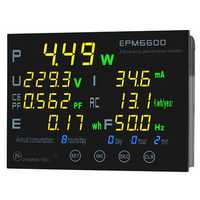 EPM6600 10A 2000W Digital Electric AC Energy Meter Power Meter Frequency KWH Meter Measurement