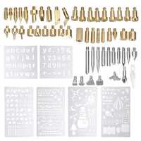 62Pcs 60W Electric Solder Iron Work Wood Burning Pen Tip Kit Pyrography Tool