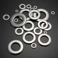 10 pcs Stainless Steel Metal Form A Flat Washers To Fit Bolts and Screws Repair Kit Tools