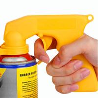 Spray Adaptor Paint Care Aerosol Spray Gun Handle with Full Grip Trigger Locking Collar Tools Kit