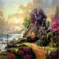 40x50cm Framed Picture Paint on Canvas DIY Digital Oil Painting By Numbers Home Decoration