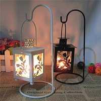 Metal Antique Rose Candlestick Iron Art Pillar Tea Light Candle Holder Candelabrum Home Decor Gift