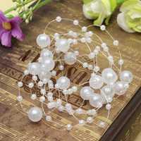 Bride Wedding Party Hair Pearl Beaded Bridal Headpiece Tiara