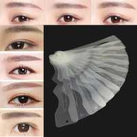 12pcs Reusable DIY Eyebrow Grooming Shaping Stencil Card Liner Template Eye Makeup Shaper Set