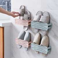 Creative Collapsible Wall-Mounted Simple Paste Shoe Storage Bathroom Wall Space Shoe Racks