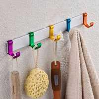 Alumimum Towel Clothes Hook Bathroom Kitchen Hanger Holder