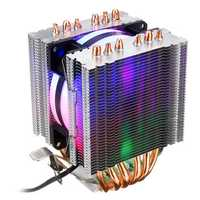 3 Pin CPU Cooler Cooling Fan Heatsink for Intel 775/1150/1151/1155/1156/1366 and AMD All Platforms 5 Colors Lighting