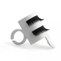 U Shape Wearable Grafted Eyelashes Separators Holder Ring False Eyelash Planting Device Glue