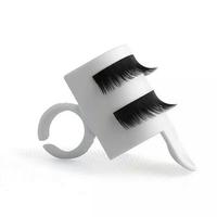 U Shape Wearable Grafted Eyelashes Separators Holder Ring False Eyelash Planting Device Glue