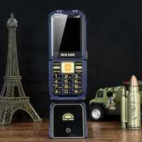 H10 2.4 inch 1800mAh Power Bank FM Magic Voice 4 SIM Card 4 Standby Rugged Flip Feature Phone