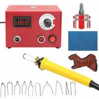 110V 50W Multifunction Pyrography Machine Burning Pen Gourd Wood Craft Tools Kit
