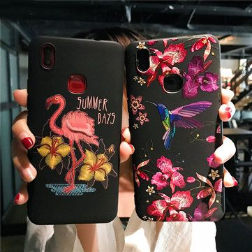 Bakeey Imitation Embroidery Three Dimensional Relief Soft TPU Protective Case For Xiaomi Mi 6X/Mi A2