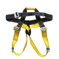 Outdoor Rock Climbing Harness Seat Belt Rappelling Half Body Portable Rope with Safety Metal Hook
