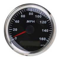 85MM 160MPH Waterproof GPS Speedometer Odometer Gauge Car Truck ATV UTV Marine