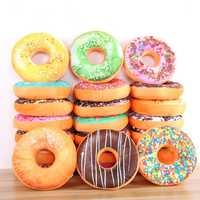 Donut Plush Stuffed Toy Soft Doughnut Food Back Saddle Car Set Kids Gift Decor