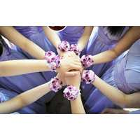 Bride Rose Buds Wrist Corsage Wedding&Party Decoration Prom Artificial Flower Bracelet