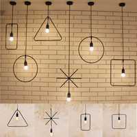 E27 Geometric Hanging Light Industrial Ceiling Pendant Lamp Lampshade Fixture